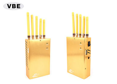 China 2.5W 27dBm Mobile Phone Signal Blocker With Built - In Rechargeable Lithium Battery supplier