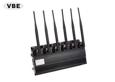 China 6 Bands Cellular GPS Signal Jammer Power Adjustable AC110 - 250V Power Supply supplier