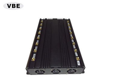16 Channles 2G/3G/4G/5G Cell Phone Signal Jammer , Wifi Signal Jammer 5 - 50m Effective Range, Wireless Signal Jammer