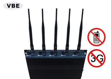 China Power Adjustable Cell Phone Signal Jammer High Security Relative Humility ≤90% supplier