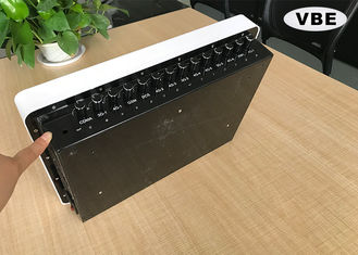 China 14 Channel Directional Indoor Military Prison Signal Jammer , Cell Phone Signal Jammer, Built-in Antenna Indoor Jammer supplier