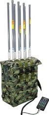 China 8 Bands High Power Backpack Bomb Jammer , Manpack Portable Jammer 1200 Watt supplier
