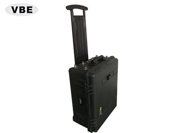 China Black Shell Portable Signal Jammer Hand Pull Box Structure 1000W Power Consumption distributor