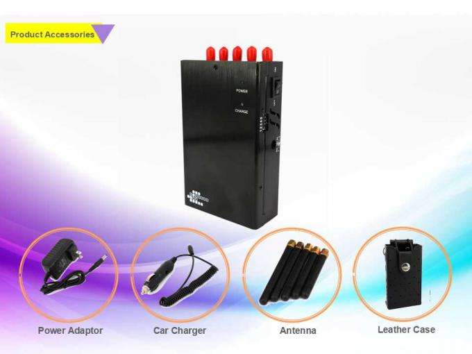 Compact Design Handheld Signal Jammer With 2000mAh Internal Battery No Harm To Human Body