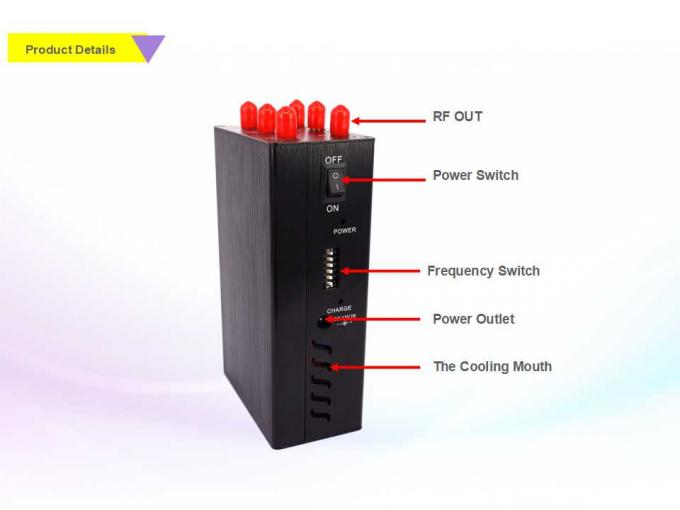 Audio jammer uk | Compact Size Handheld Signal Jammer 6W Total Transmit Power Eco Friendly