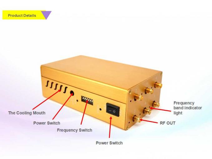 Cell phone jammer diy video - 6 Bands 6W Uhf Vhf Jammer Sustained Shielding GPS Signal Six Output Ports