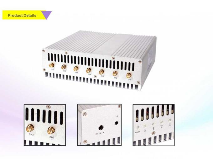 Remote Control Electronic Signal Jammer , 3G 4G Signal Jammer 7 Brands 16W