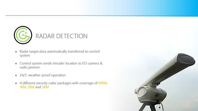 Stationary Outdoor High Power 8 Bands Drone  Jammer, Waterproof Outdoor Drone Jamming system with Radar Detection
