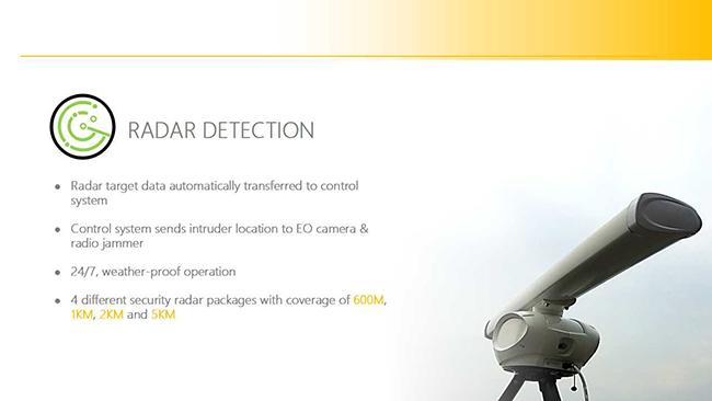 UAV Drone Jamming System,  Vehicle - Mounted Drone Jammer with 3km Radar Detection system, Automatic Anti-Drone System